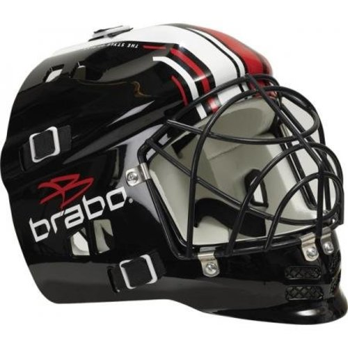 Brabo Junior Helm Black w/cage