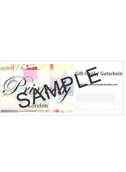Princely London Gift Card of 25,00 €
