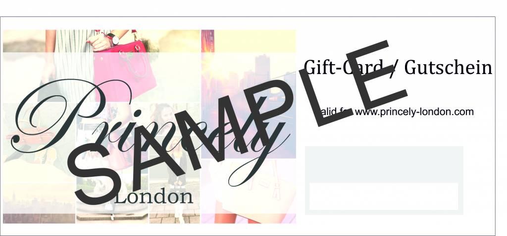 Princely London Geschenkgutschein im Wert von 69,90 € (einer Handtasche Victoria)