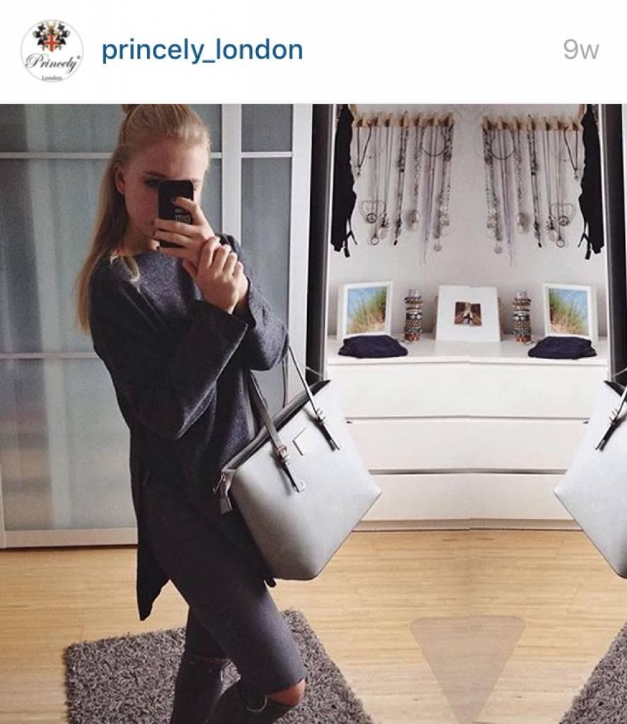 Shopper Beverly Kreidegrau
