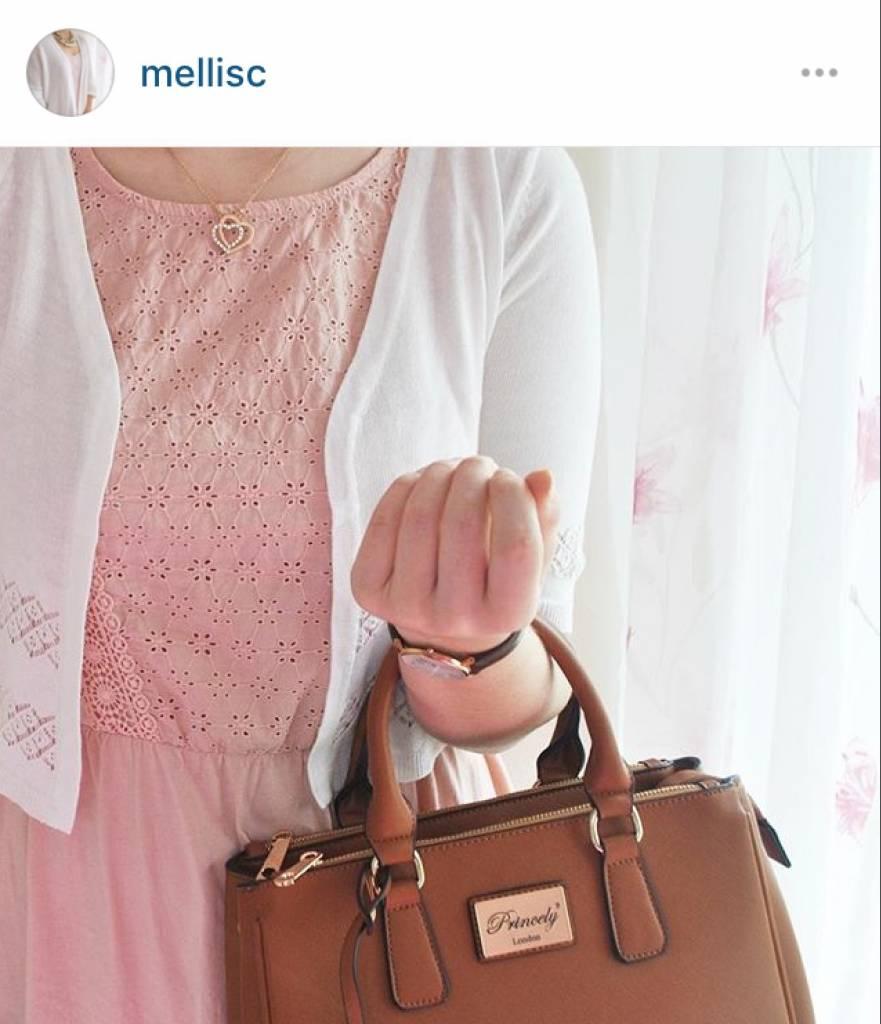 Handtasche Victoria Teakbraun