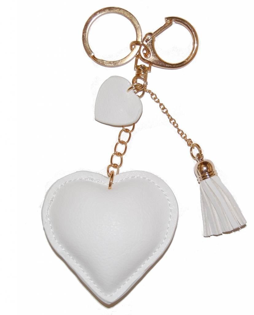 """Keychain """"Love"""" - White"""