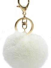 "Fur Keychain ""Foxy"" White"