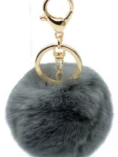"Fur Keychain ""Foxy"" Dark Grey"