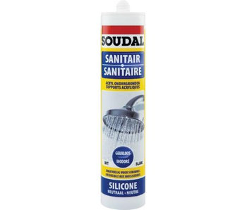 Sanitaire silicone wit 300 ml