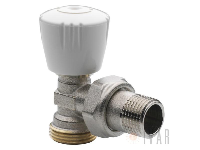 Begetube Haakse radiatorkraan vaste kraan 1/2F - 1/2M