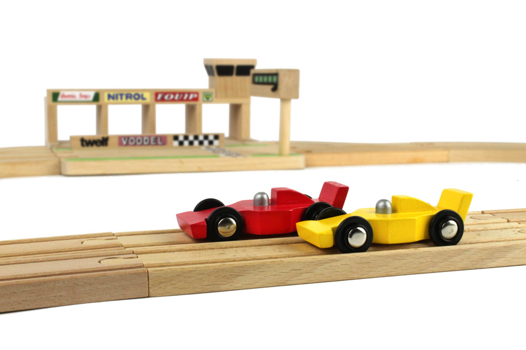 wooden race track f1 cars ikonic toys