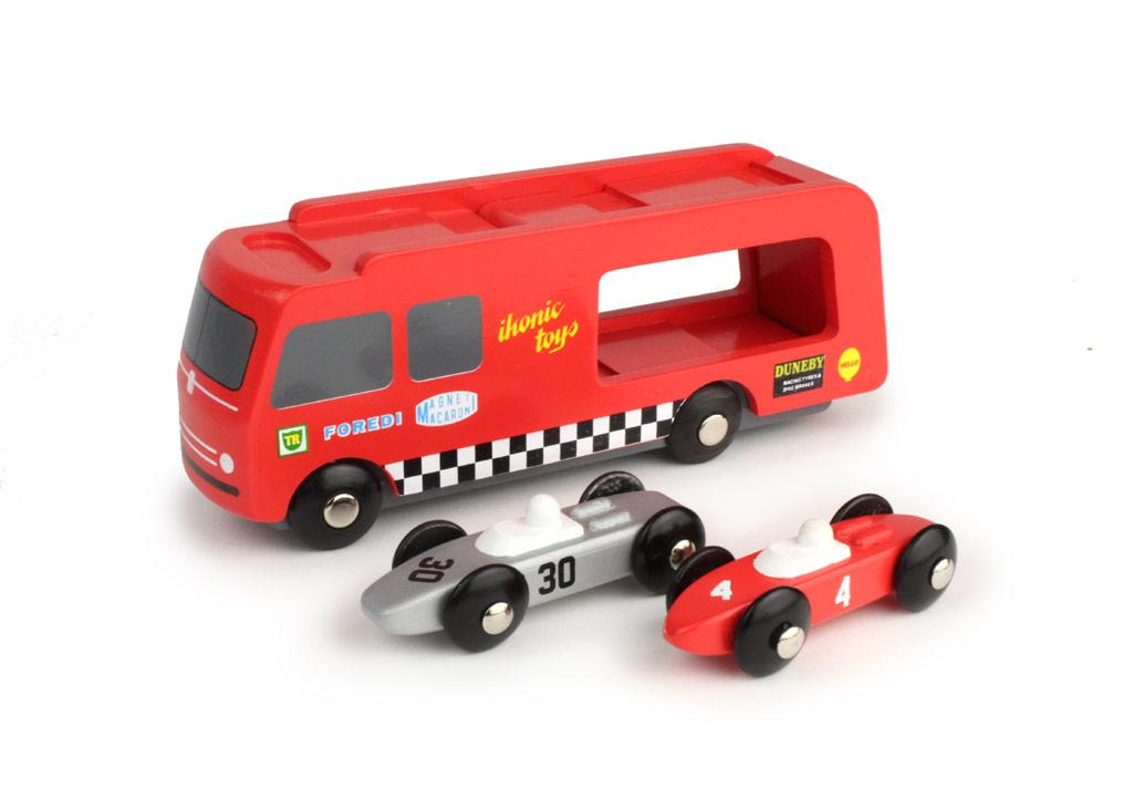 houten race auto transporter