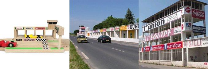 Jouet en bois inspire du circuit de F1 de Reims