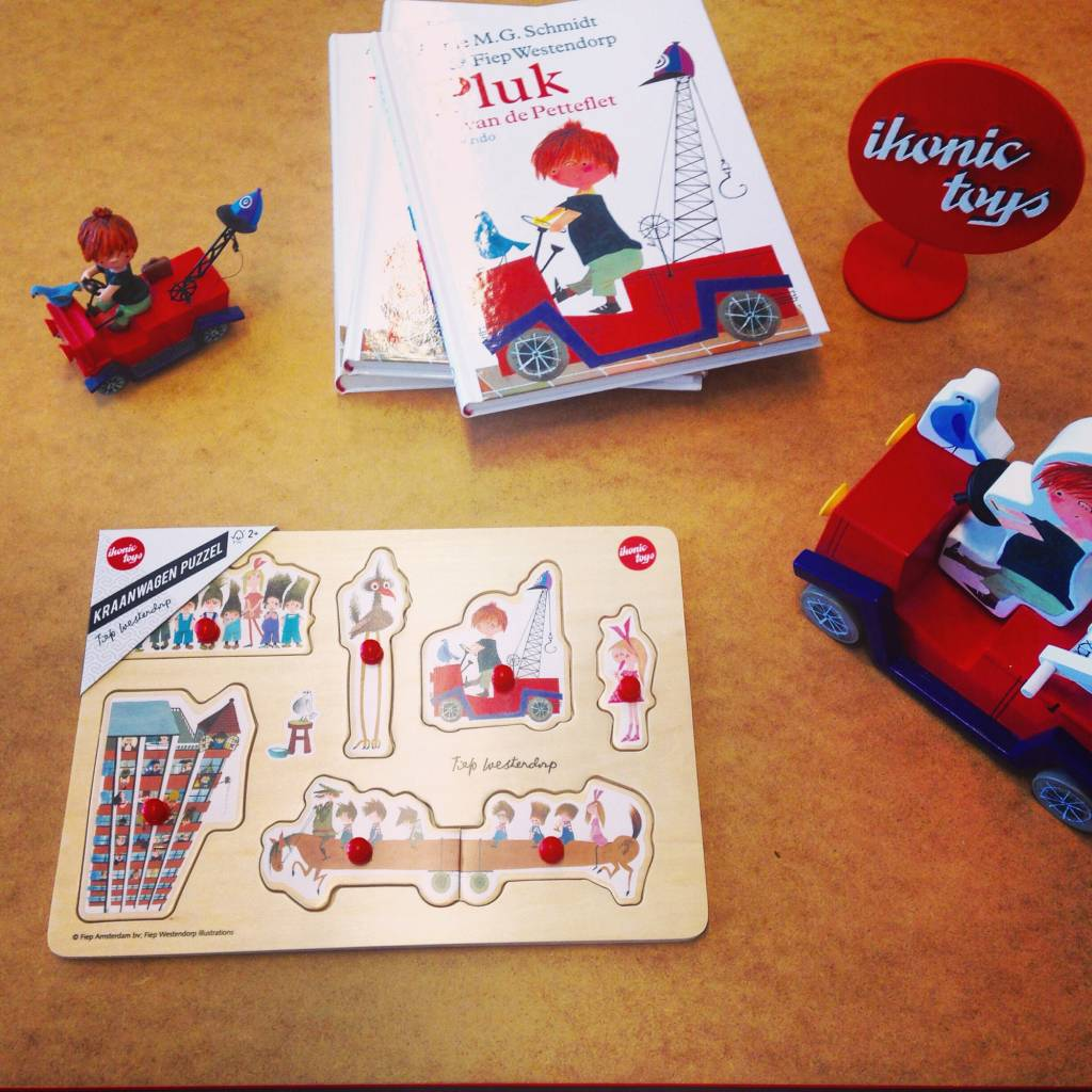 In stock now; wooden puzzles with illustrations by Fiep Westendorp