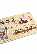 Ikonic Toys Wooden Puzzle 'The red tow truck'