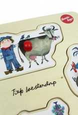 Ikonic Toys Houten Puzzel 'Dieren' - Fiep Westendorp