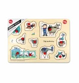 Ikonic Toys Wooden Puzzle 'Animals' - Fiep Westendorp