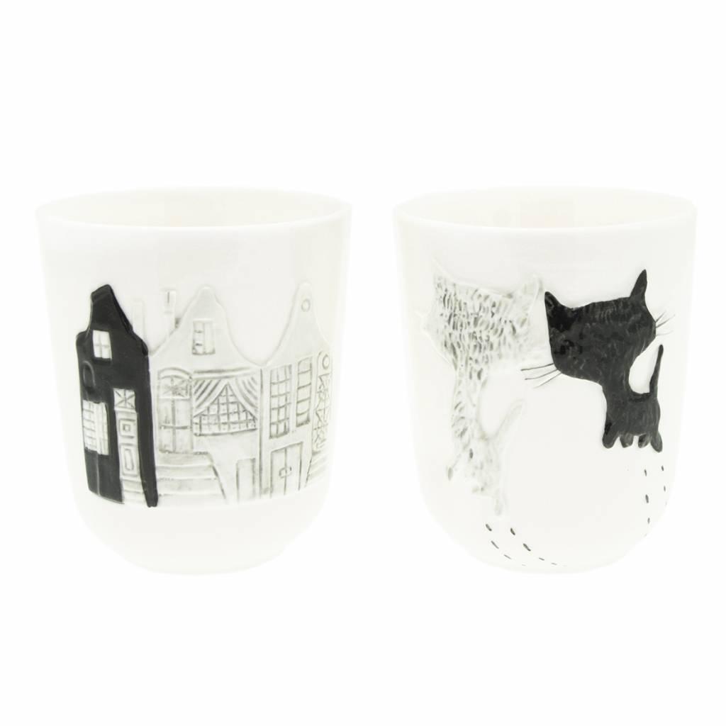 Hollandsche Waaren Pim & Pom porcelain cups