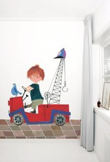 Kek Amsterdam Photo wallpaper 'The Red Towtruck' by Fiep Westendorp