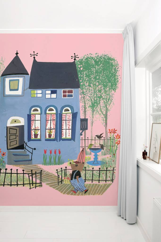 Kek Amsterdam Fotobehang 'Beer voor het blauwe huis', Fiep Westendorp