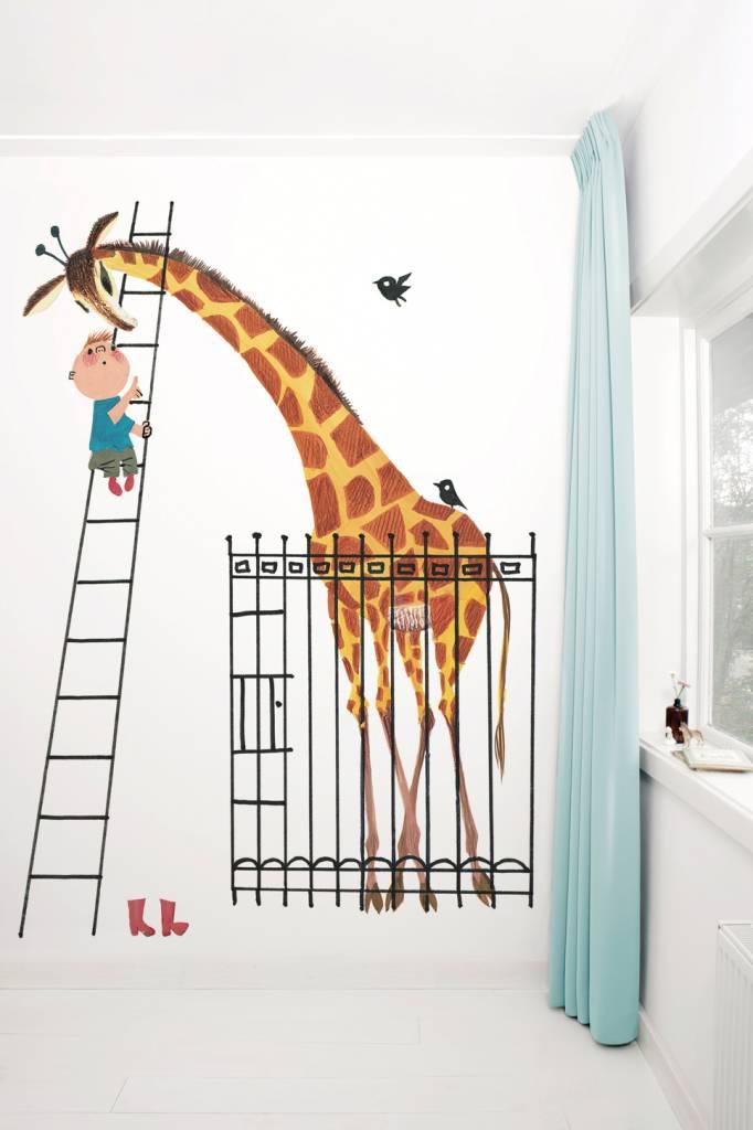 Kek Amsterdam Fotobehang 'Reuze Giraffe' en Dikkertje Dap, Fiep Westendorp