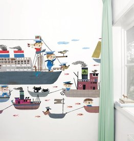 Kek Amsterdam Fotobehang 'Bootjes' / Holland Amerika Lijn
