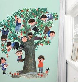 Kek Amsterdam Fotobehang appelboom, groen