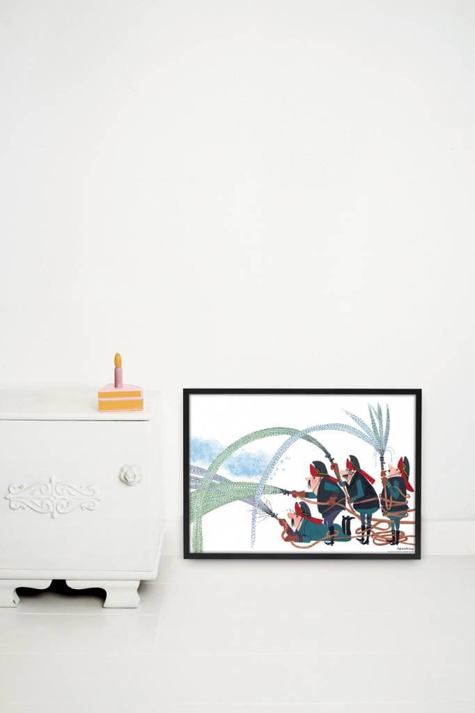 Kek Amsterdam Poster 'Fire Department',  60 x 42 cm