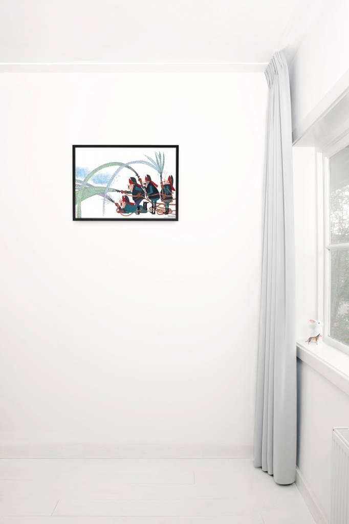 Kek Amsterdam Poster Brandweer