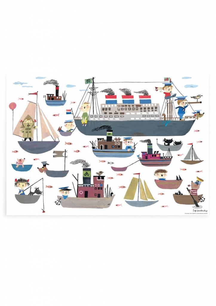 Kek Amsterdam Poster Holland America Line
