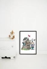 Kek Amsterdam Poster 'Kleine Ridder', 42 x 60 cm