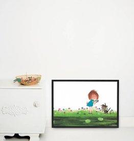 Kek Amsterdam Poster 'Picking flowers'