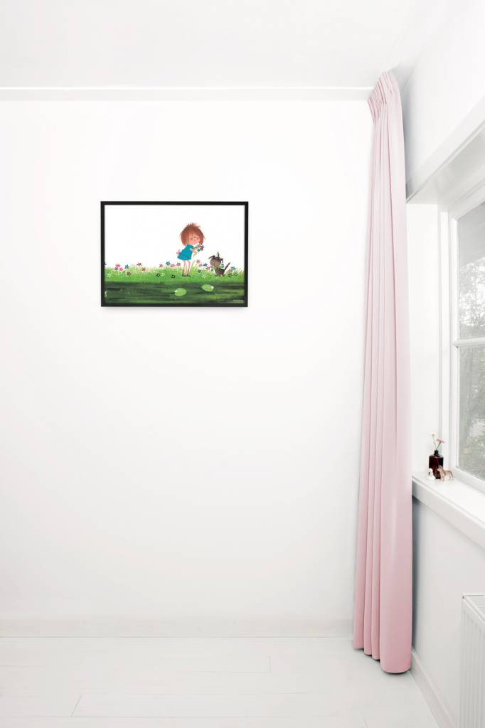 Kek Amsterdam Poster 'Bloemen plukken'