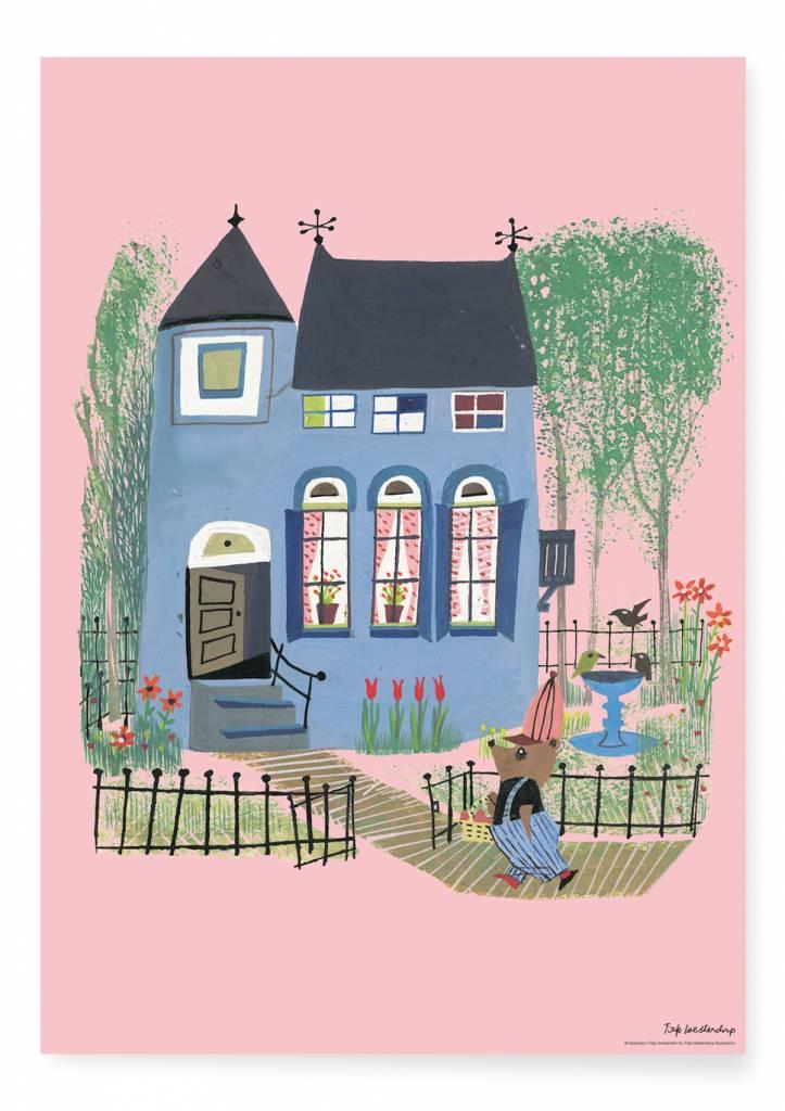 Kek Amsterdam Poster 'Beer voor het Blauwe huis'