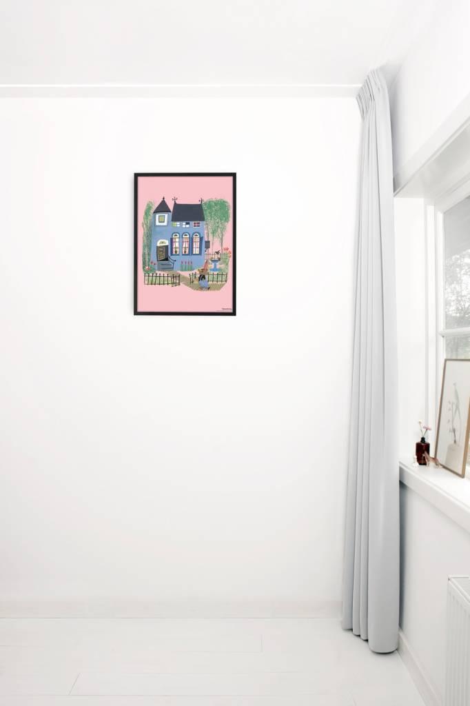 Kek Amsterdam Poster 'Beer voor het Blauwe huis', 42 x 60 cm