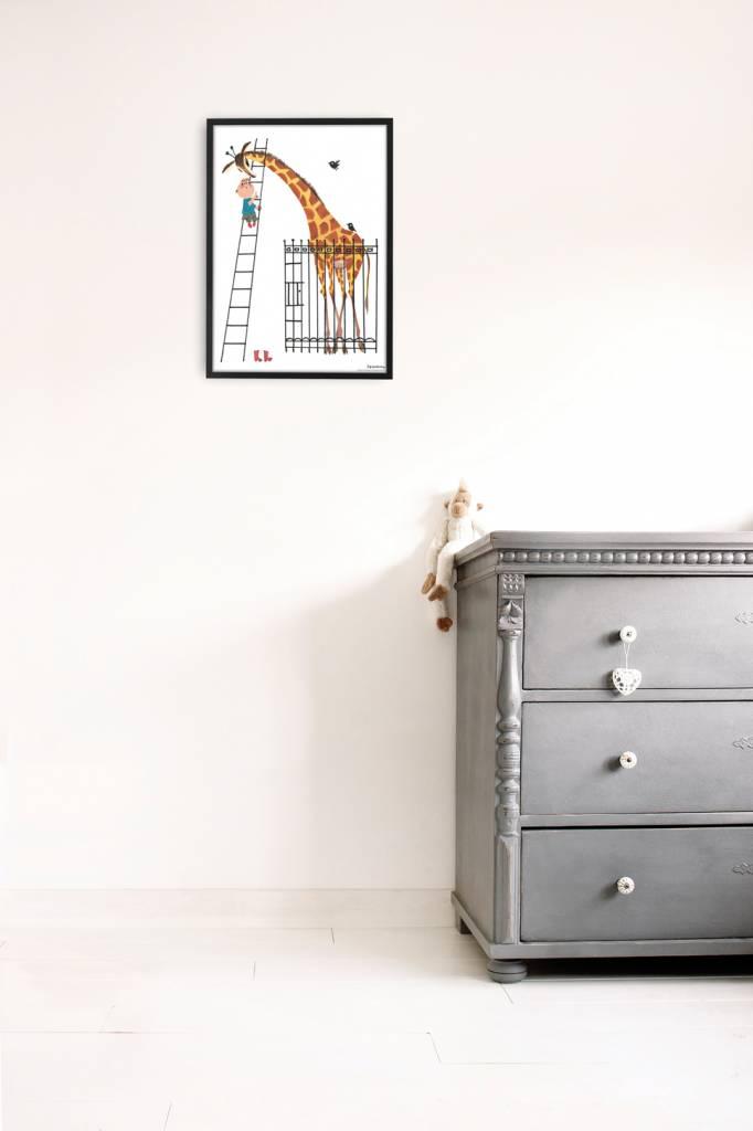 Kek Amsterdam Poster 'Reuze Giraffe', 42 x 60 cm