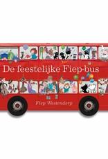 Querido De feestelijke Fiep-bus, Kartonboek met draaiende wielen