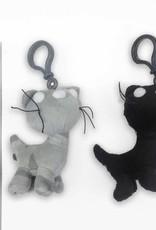 Pim en Pom, pluche knuffels met sleutelhanger, 10 cm