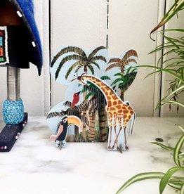 Pop-Out Card: 'Jungle Giraffe'