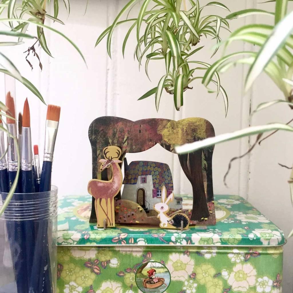 Studio Roof Pop-Out Card: 'Huisje in het bos' van Studio Roof