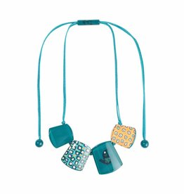 Necklace 'Colourful Fifties', turquoise - Fiep Westendorp