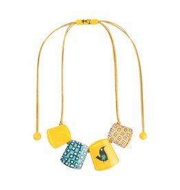 Zsiska Necklace 'Bird' yellow- Fiep Westendorp - Zsiska