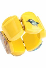 Zsiska Armband 'Vogel' geel - Fiep Westendorp