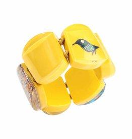 Zsiska Bracelet 'Bird' yellow- Fiep Westendorp - Zsiska