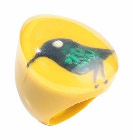 Zsiska Ring 'Vogel' geel - Fiep Westendorp