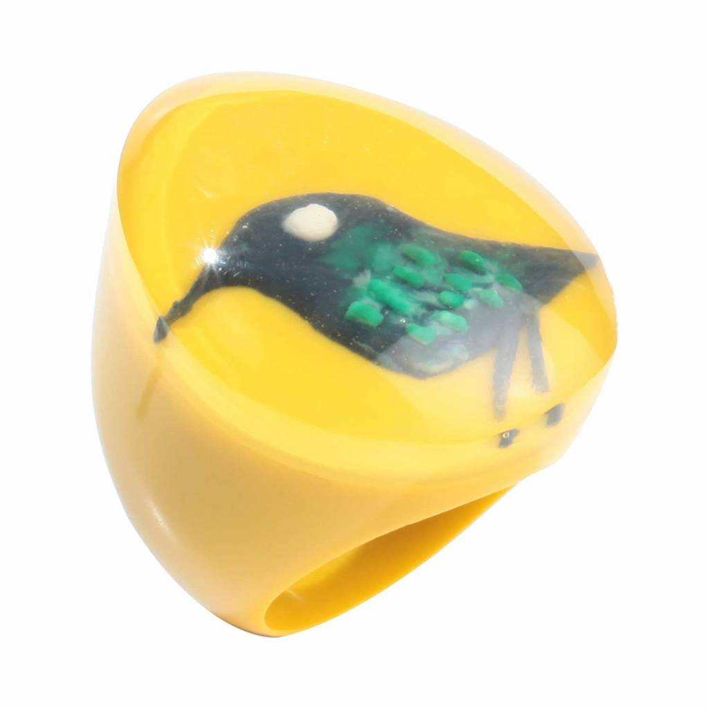 Zsiska Ring 'Bird' yellow - Fiep Westendorp - Zsiska