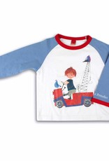 Fiep Amsterdam BV Boys' Pyjamas 'The Red Tow Truck' from the famous boy Pluck