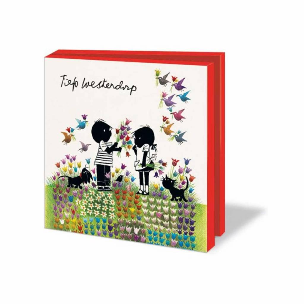 Bekking & Blitz Card Wallet, Jip en Janneke, Flowers - Fiep Westendorp