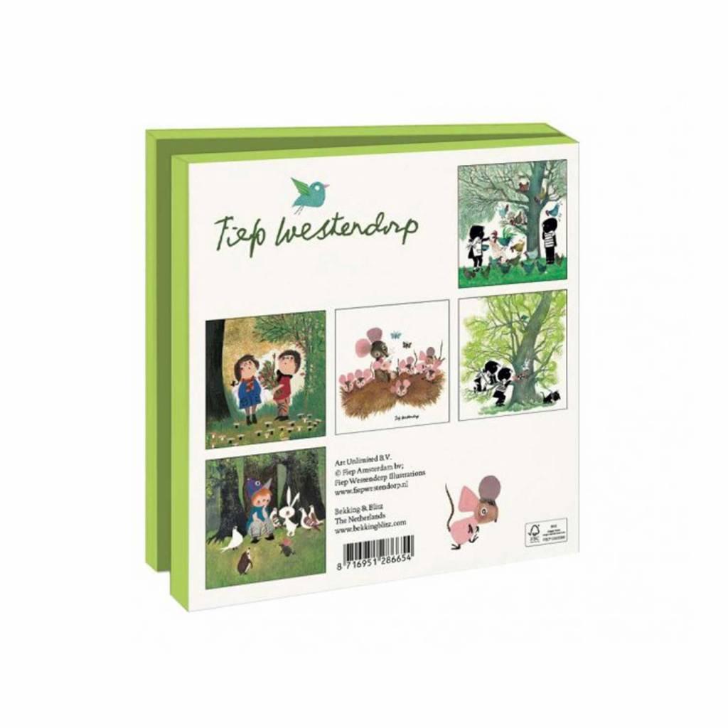 Bekking & Blitz Ansichtkaartenmapje, Bos- en boerderijdieren - Fiep Westendorp