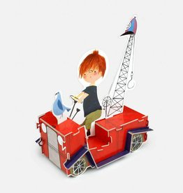 Paper Toy 'The Red Tow Truck'