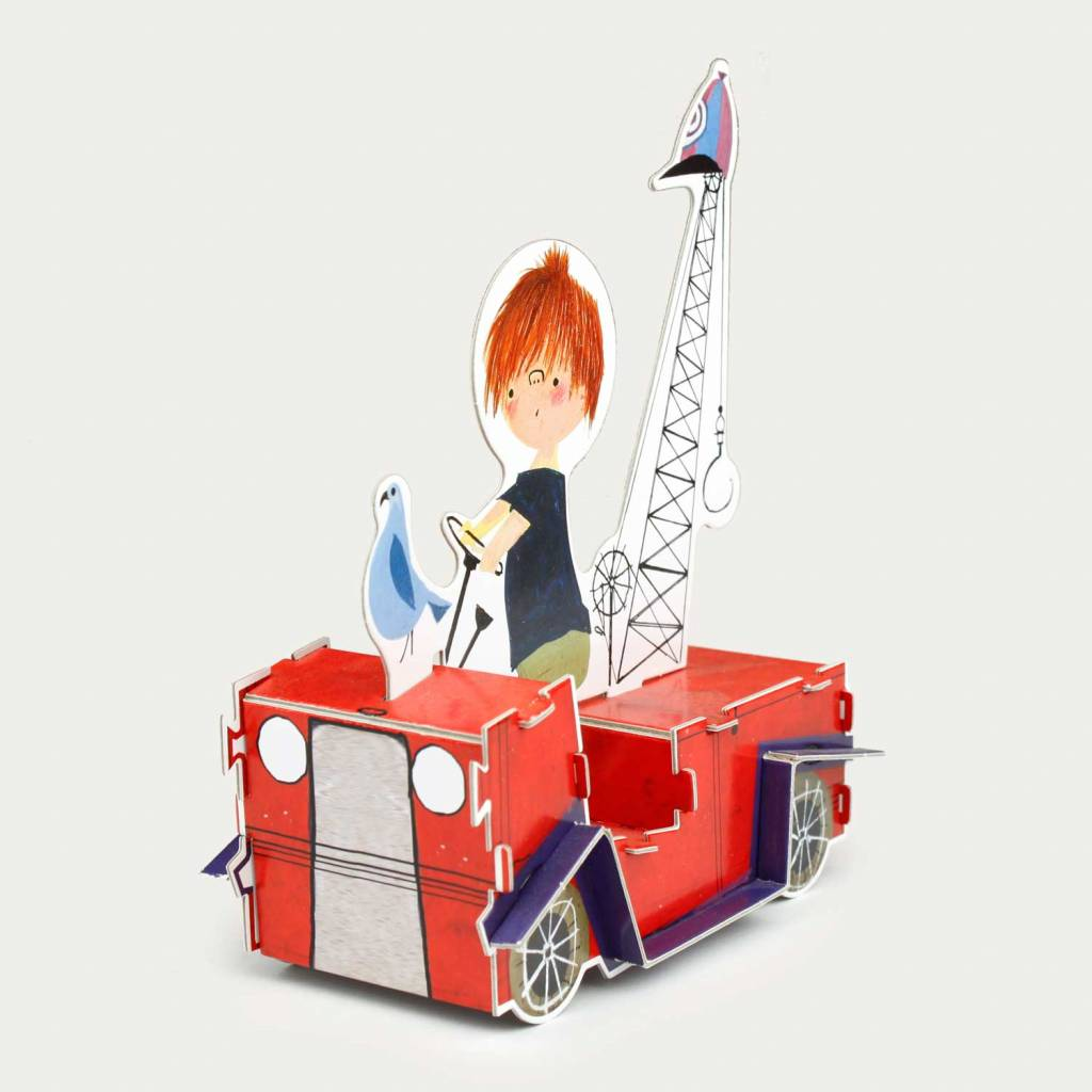 Rubinstein Paper / Cardboard Toy 'The Red Tow Truck'