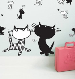 Kek Amsterdam Wall stickers Pim and Pom - large set