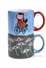 Serax Mugs 'Rainy Day', set of 2, Fiep Westendorp