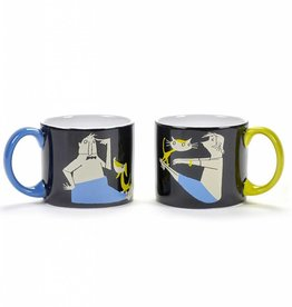 Mugs 'Stay Fit', set of 2, Fiep Westendorp